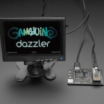 Gameduino 3X Dazzler for Feather M4 by Excamera Labs