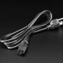 Power Cord Cable w/ 3 Conductor PC Power Connector Socket - 6ft 18AWG