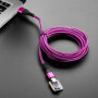 Pink and Purple Woven USB A to USB C Cable - 2 meters long
