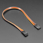 """2.54mm 0.1"""" Pitch 3-pin Jumper Cable - 20cm long"""