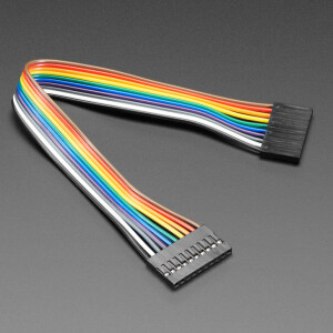 """2.54mm 0.1"""" Pitch 10-pin Jumper Cable - 20cm long"""