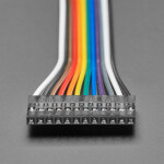 """2.54mm 0.1"""" Pitch 12-pin Jumper Cable - 20cm long"""