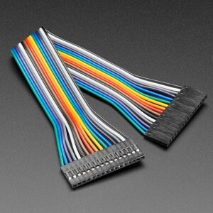 """2.54mm 0.1"""" Pitch 16-pin Jumper Cable - 20cm long"""