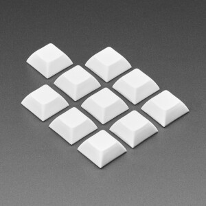 Dress up your mechanical keys in your favorite colors, with a wide selection of stylish DSA key caps. Here is a 10 pack of white DSA keycaps for your next mechanical keyboard or NeoKey project. Snap 'em onto any Cherry MX or compatible switch to turn your Feather or breakout into the lil'est macro keypad.   DSA profile key caps are fully symmetric in all four directions, and are fairly flat so they are great for macro pads. These key caps do not have any markings or labels. You could draw on them with a permanent marker (use a silver marker for dark key caps, a black marker for lighter key caps)  Note: This product is just a pack of 10 key caps. Key switches are not included!  These key caps are opaque white, but we also carry Translucent Keycaps if you prefer a glow-friendly option.
