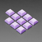 Lavender DSA Keycaps for MX Compatible Switches - 10 pack