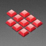 Red DSA Keycaps for MX Compatible Switches - 10 pack