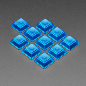 Translucent Blue DSA Keycaps for MX Compatible Switches - 10 pack
