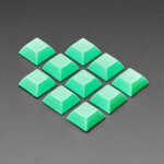 Neon Green DSA Keycaps for MX Compatible Switches - 10 pack