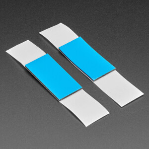 """Thick Double-Sided Rectangle Foam Tape - 2 pieces - 3/4"""" x 1.5"""" x 0.063"""""""