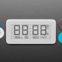 Bluetooth eInk Display Clock with Temperature Humidity Sensor - LYWSD02