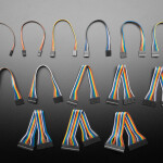 """2.54mm 0.1"""" Pitch Jumper Cables in Various Widths - 20cm long"""
