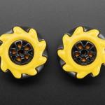 Left & Right Mecanum Wheel Pair - 48mm Diameter - TT Motor or Cross Axle (2-pack)