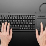 Full Size Panel Mount Keyboard with Trackpad