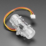 Clear Turbine Water Flow Sensor with 3-pin JST
