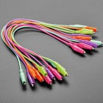 """Colorful Clips - Tropical Alligator Test Clip Leads - 10 Pieces - 13"""" long"""