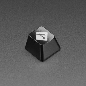 Etched Glow-Through Keycap with GIT Logo - MX Compatible Switches