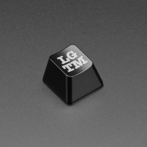 Etched Glow-Through Keycap with LGTM (Looks Good To Me) Acronym - MX Compatible Switches